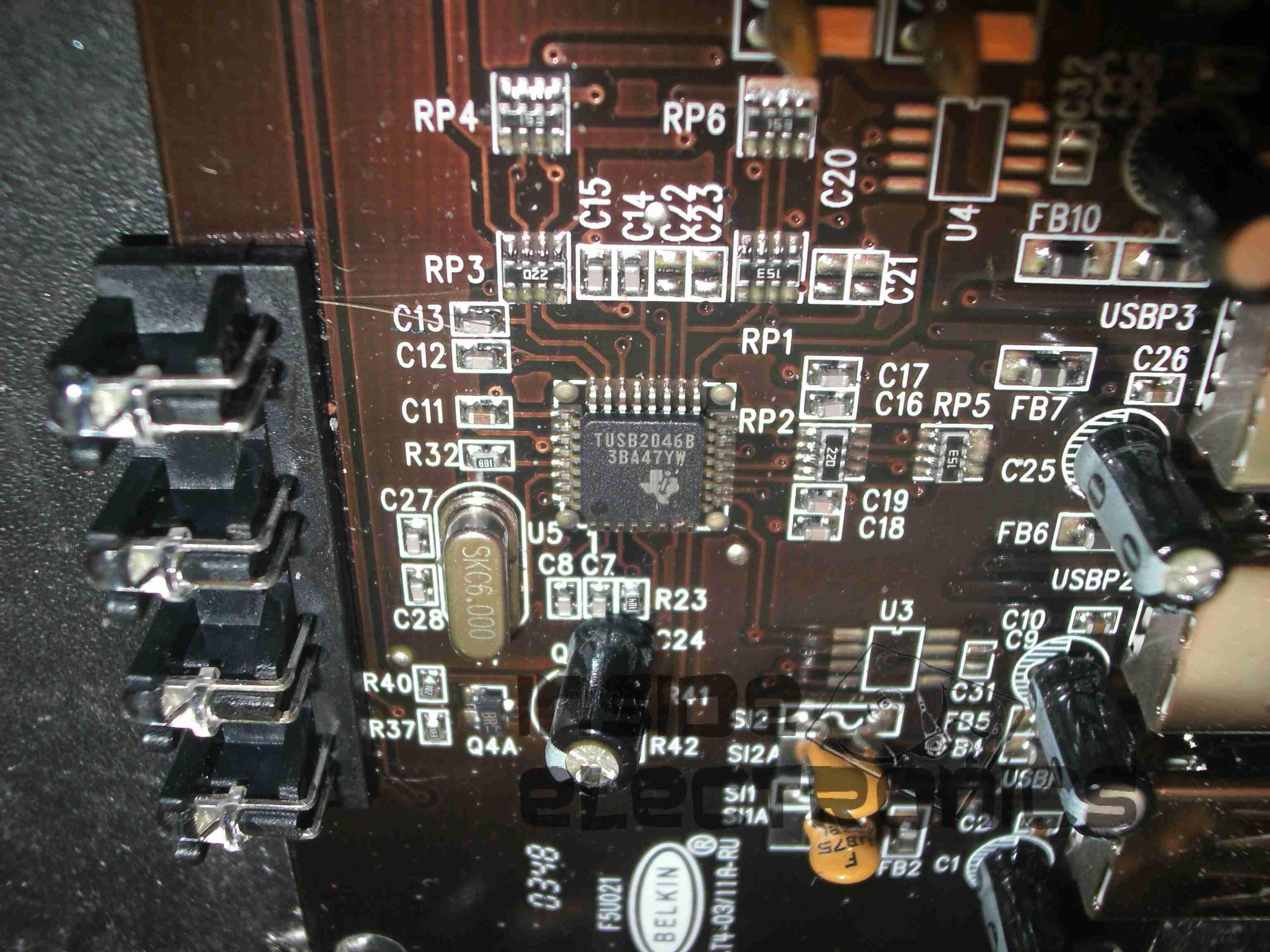 Belkin usb 4 port hub f5u021