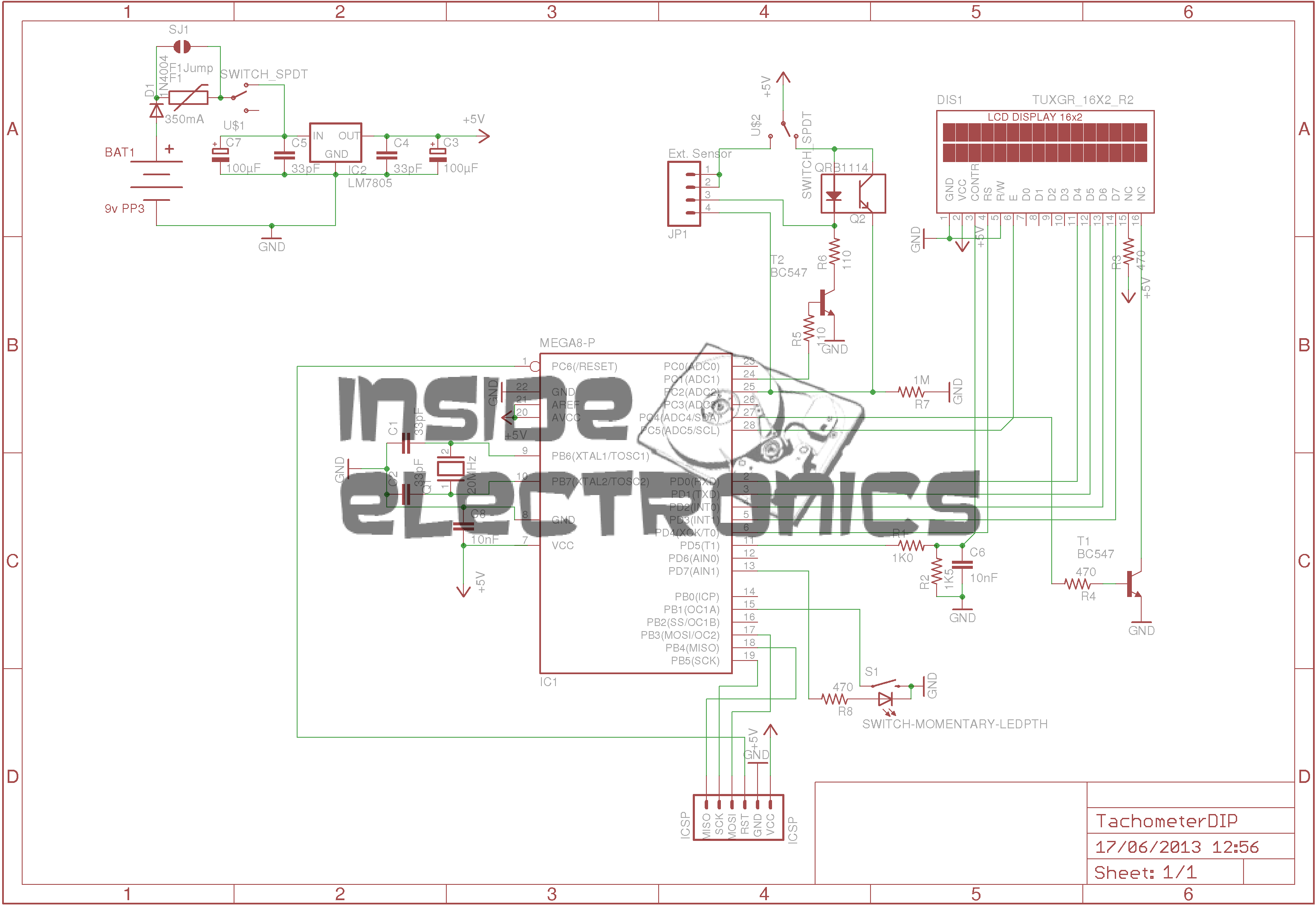 Avr Optical Tachometer Experimental Engineering Circuit Led The Infrared Very Schematic