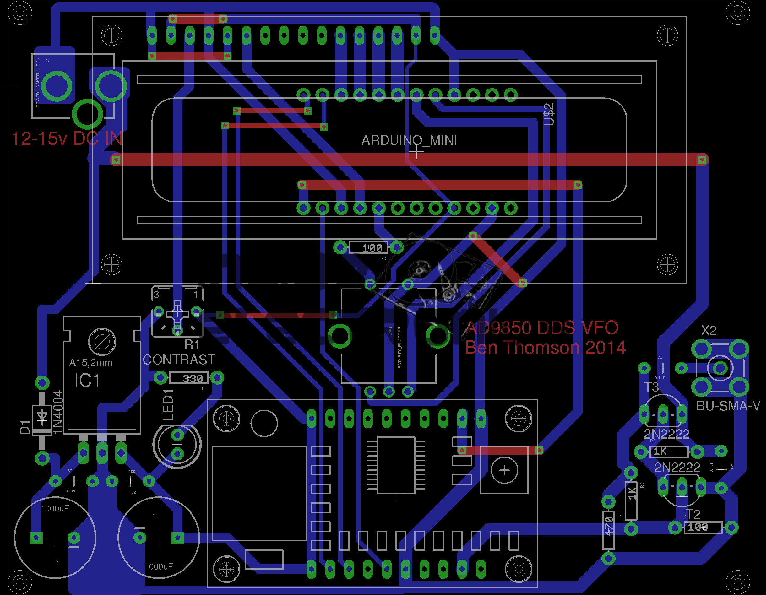 AD9850 DDS VFO PCB & Schematic Layout - Experimental Engineering on