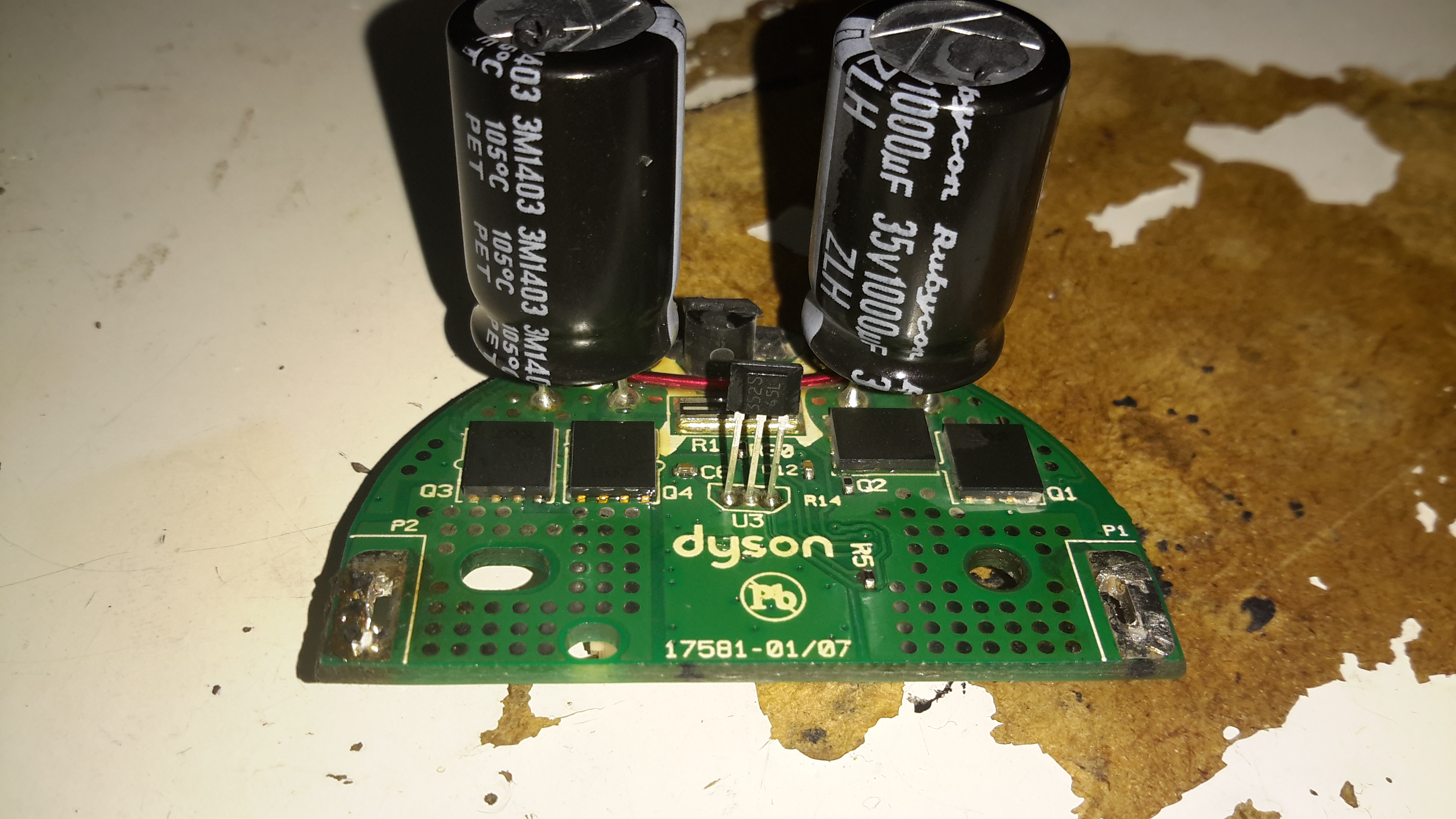 dyson dc digital teardown experimental engineering motor control board