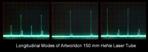 Longitudinal Modes of Artworldcn 150 mm He-Ne Laser Tube