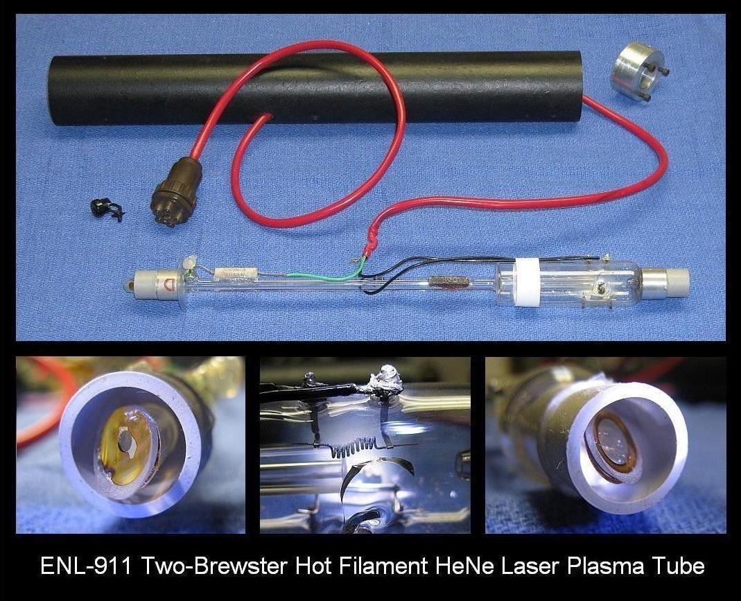 ENL-911 Two Brewster Hot Filament He-Ne Laser Plasma Tube