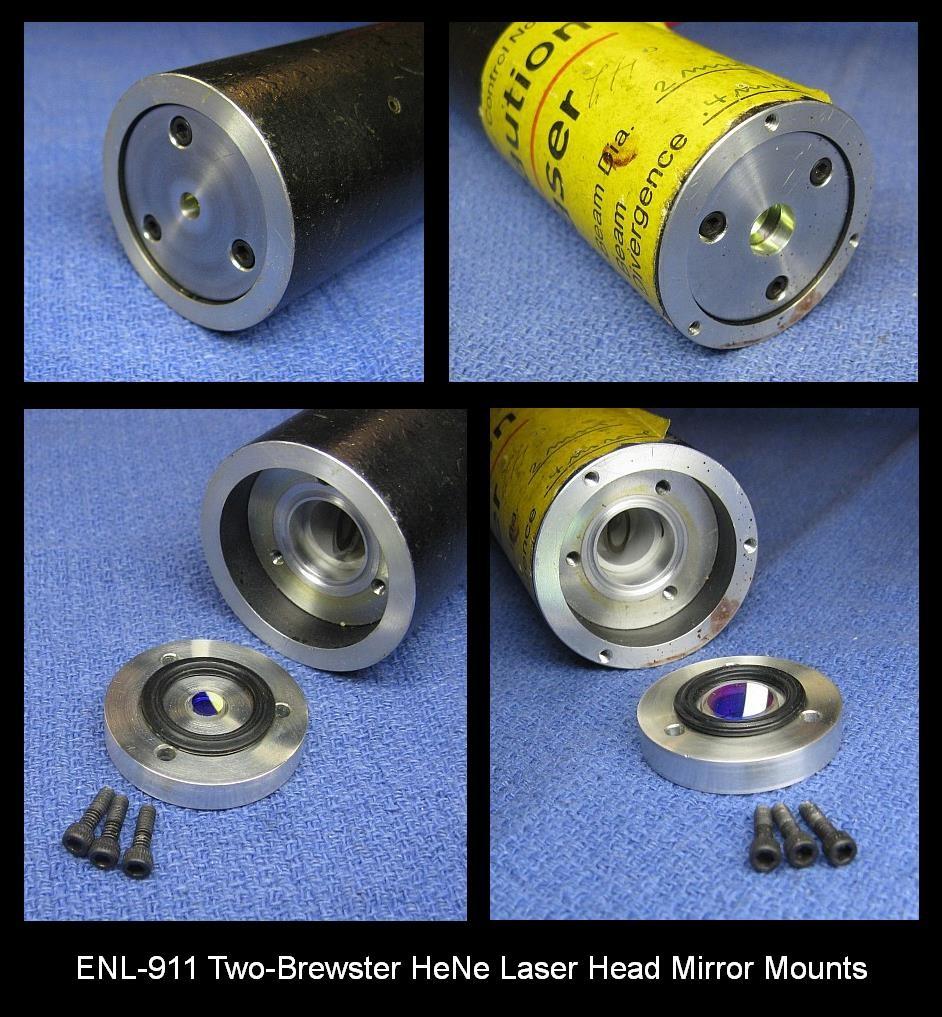ENL-911 Two Brewster Hot Filament He-Ne Laser Head Mirror Mounts
