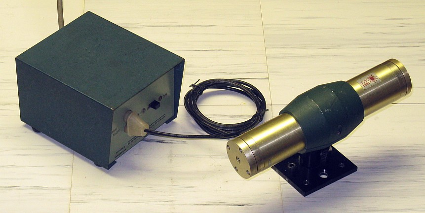 Hughes 3178H He-Ne Laser Head on Original Mount with 3598H Power Supply