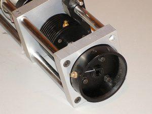 Iodine Stabilized HeNe Laser Resonator - Visible Portion of Two-Brewster He-Ne Laser Tube