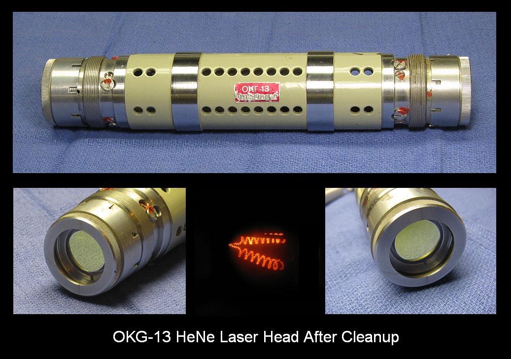 OKG-13 He-Ne Laser Head After Cleanup