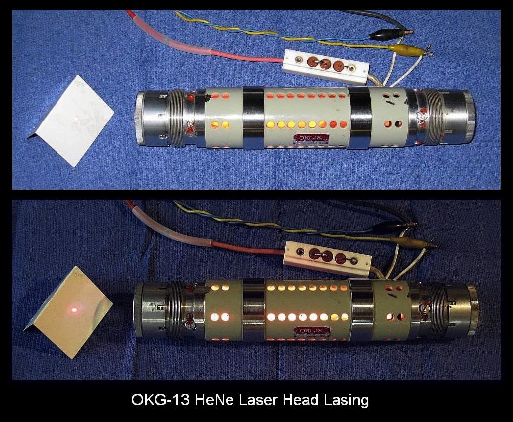 OKG-13 He-Ne Laser Head Lasing