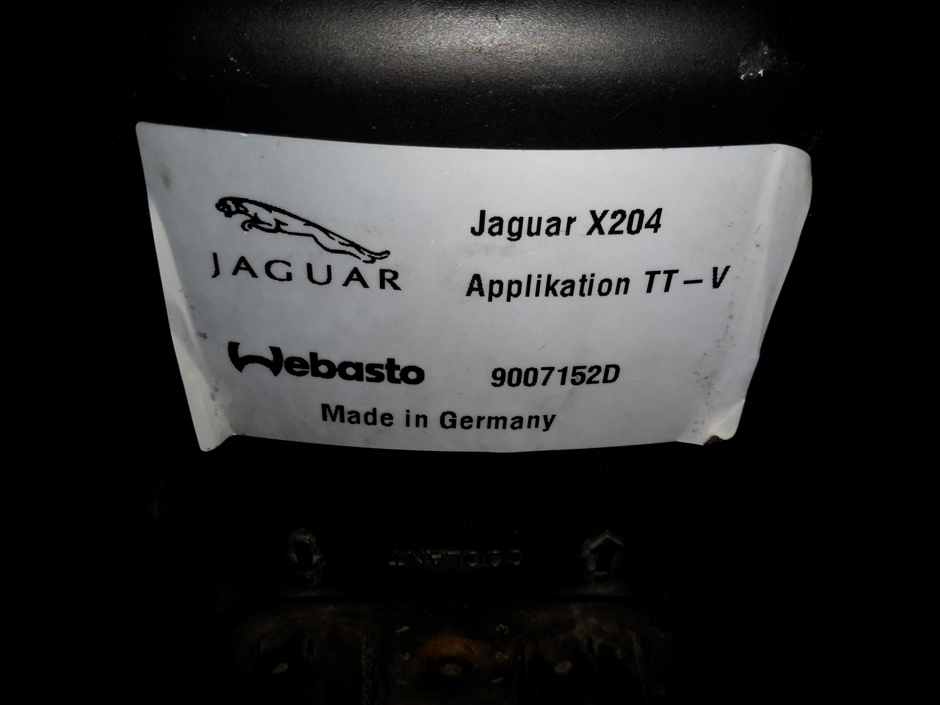Jaguar S Type Aux Heater Webasto Thermo Top V Part 1 Teardown Current Clamp Glow Plug Circuit Jag Label
