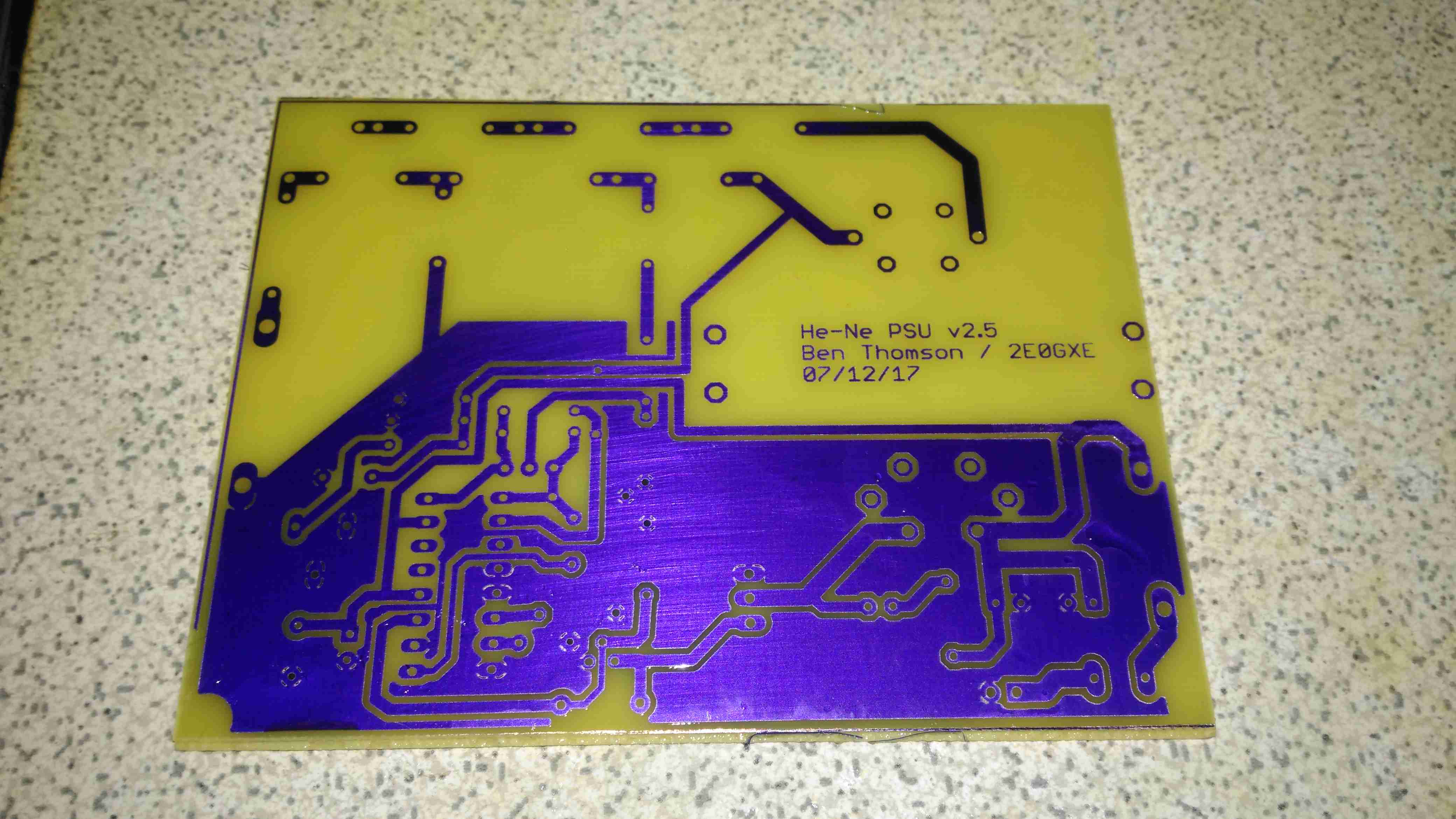 Etching Pcbs With Dry Film Photoresist Experimental Engineering Circuit Board After Process